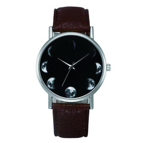 Fashion New Fashion Retro Design Alloy Leather Strap Analog Quartz Wrist Watch