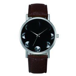 New Fashion Retro Design Alloy Leather Strap Analog Quartz Wrist Watch -