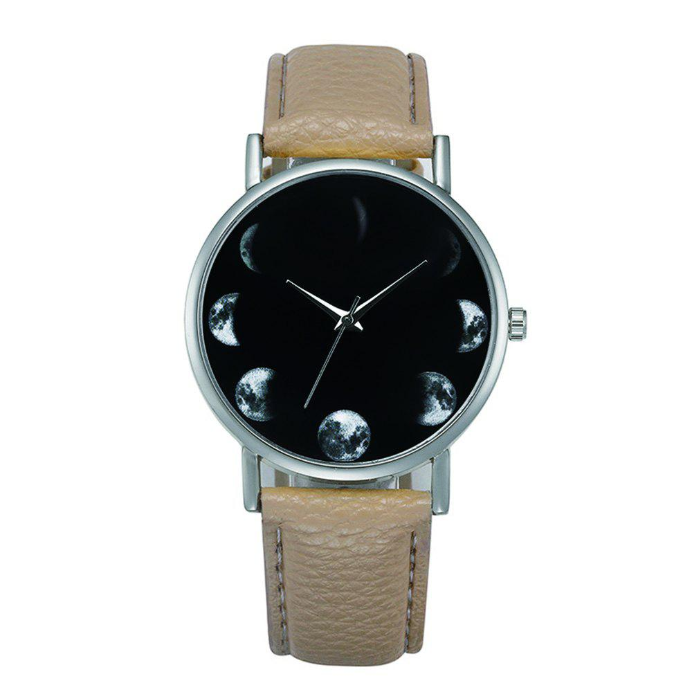 Hot New Fashion Retro Design Alloy Leather Strap Analog Quartz Wrist Watch