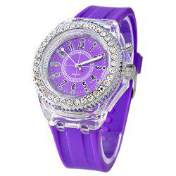 Genev Unique Creativ Sparkle Noctilucent Luminous Simulated Diamond Watch -