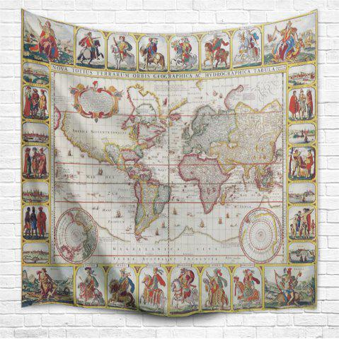 Multi a w153cmxl130cm knights world map 3d printing home wall store knights world map 3d printing home wall hanging tapestry for decoration gumiabroncs Choice Image