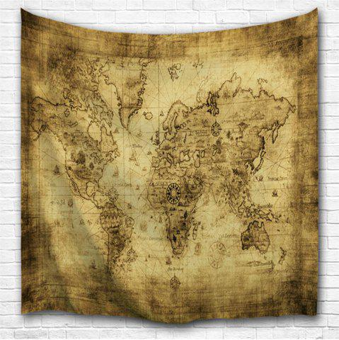 Chic Sheepskin Map 3D Printing Home Wall Hanging Tapestry for Decoration