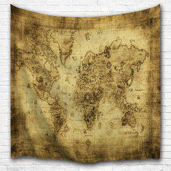 Sheepskin Map 3D Printing Home Wall Hanging Tapestry for Decoration -