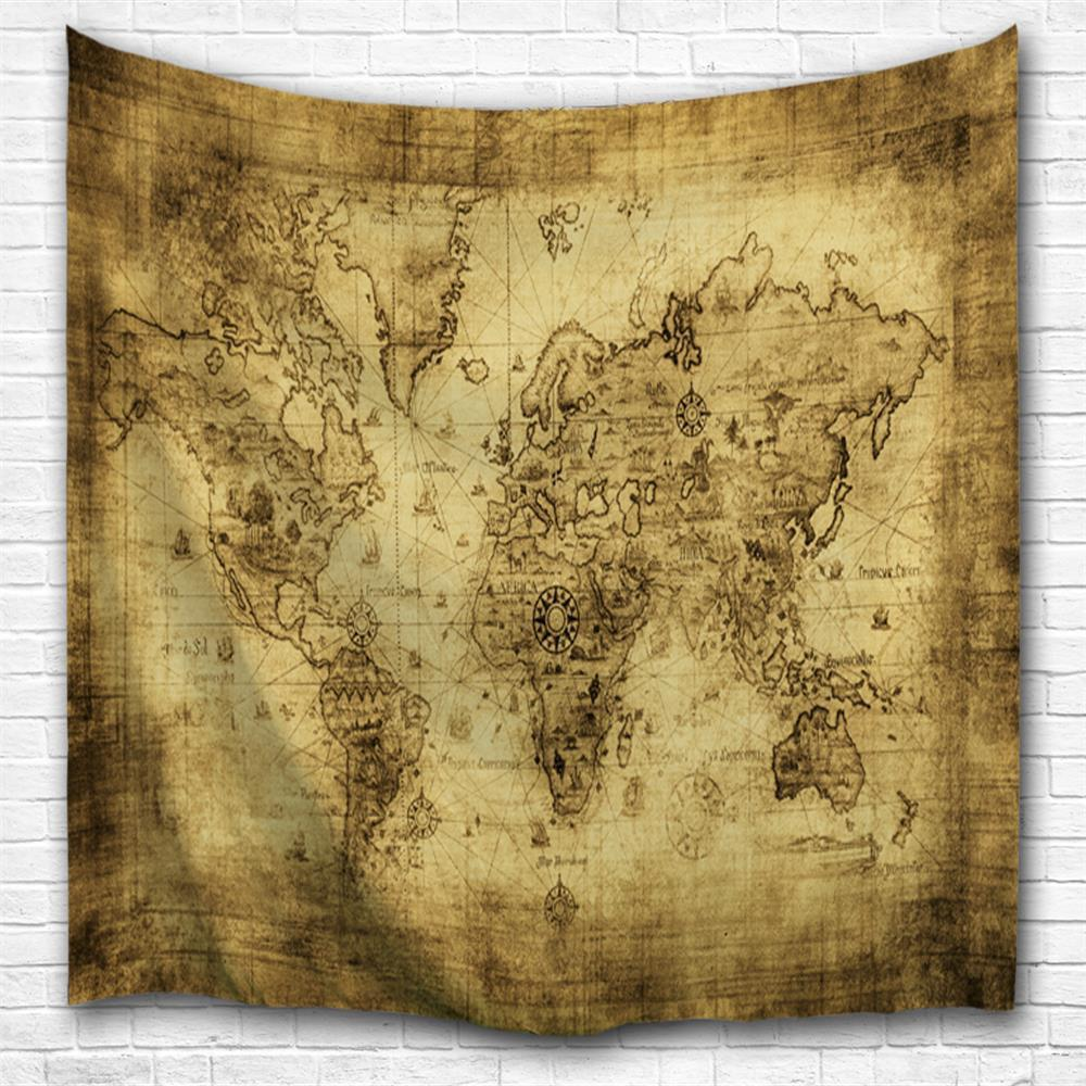 Multi A W153cmxl102cm Sheepskin Map 3d Printing Home Wall Hanging ...