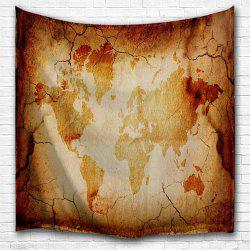 Retro Map 3D Printing Home Wall Hanging Tapestry for Decoration -