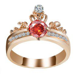 Artificial Diamond Crown Zircon Ring -