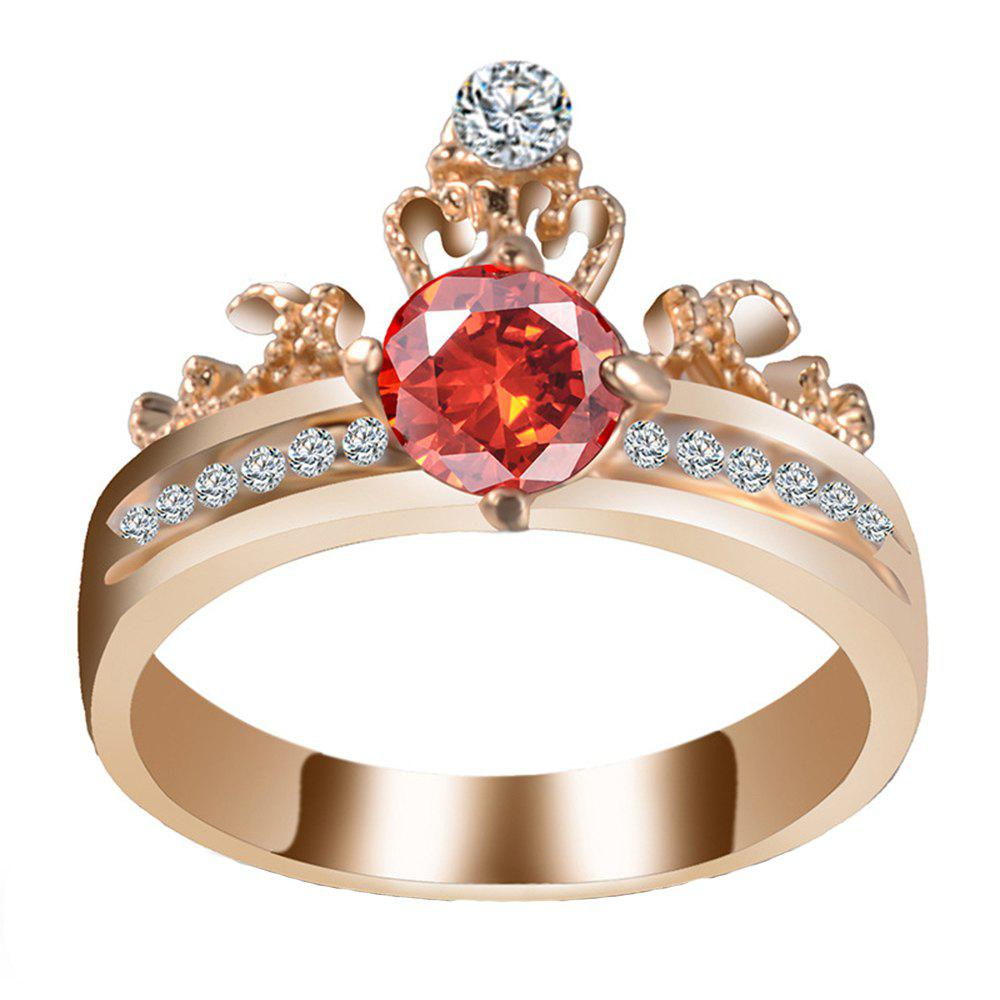 Unique Artificial Diamond Crown Zircon Ring