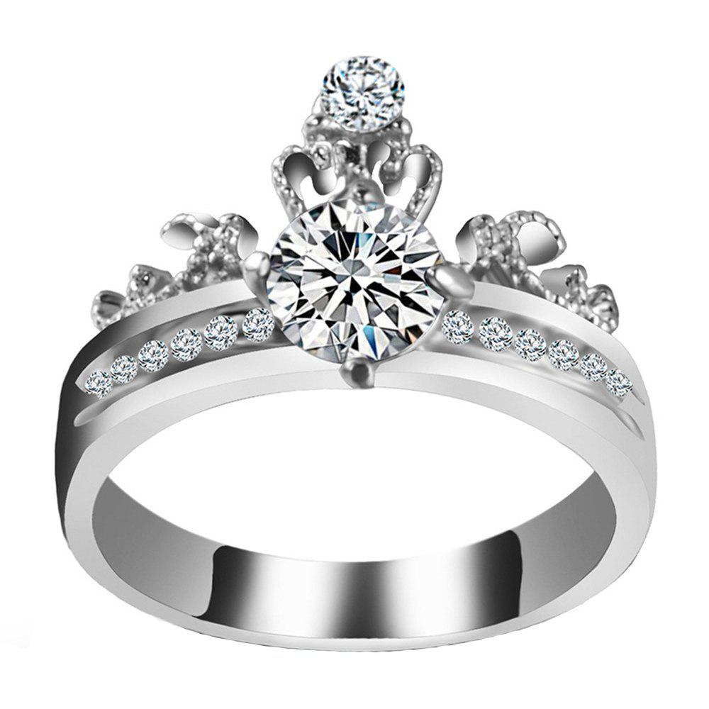 New Artificial Diamond Crown Zircon Ring