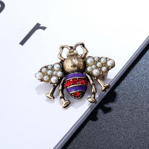 Three-Dimensional Cute Clothing Three Color Bee Brooch -