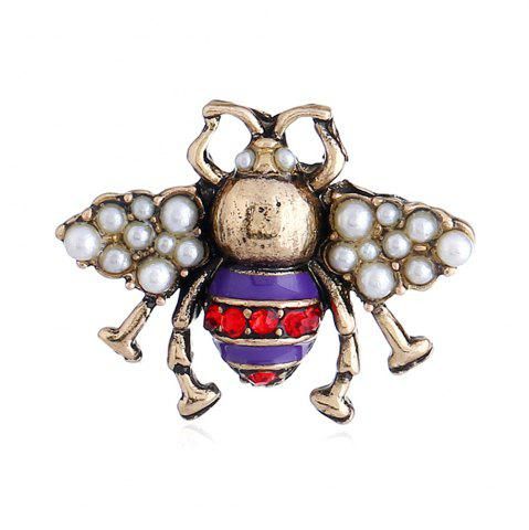 Shops Three-Dimensional Cute Clothing Three Color Bee Brooch