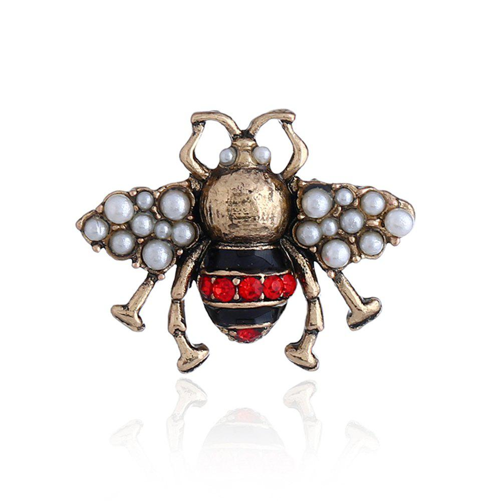 Hot Three-Dimensional Cute Clothing Three Color Bee Brooch
