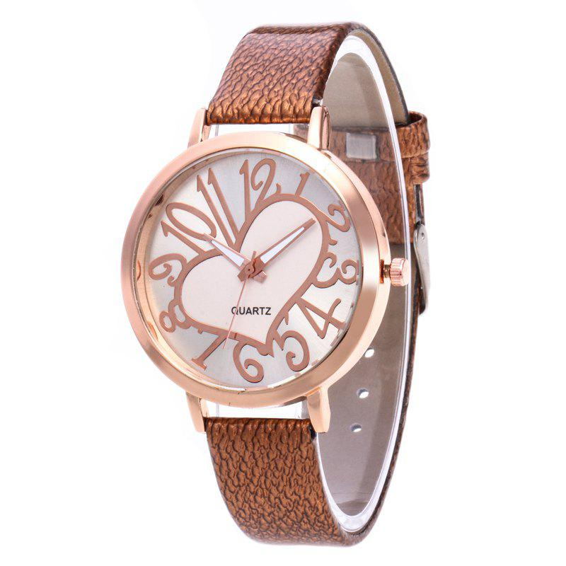Online Love Arabic Numerals Dial Women Watch