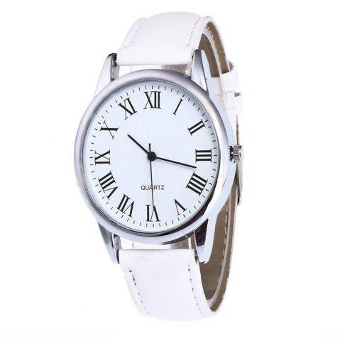 Shops Men Watch with Solid Color Dial