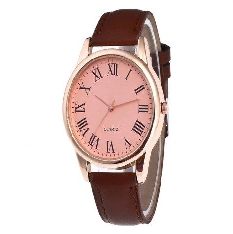 Affordable Men Watch with Solid Color Dial