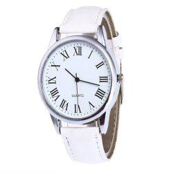 Men Watch with Solid Color Dial -
