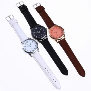 Fashionable Simple Man Leather Watch -