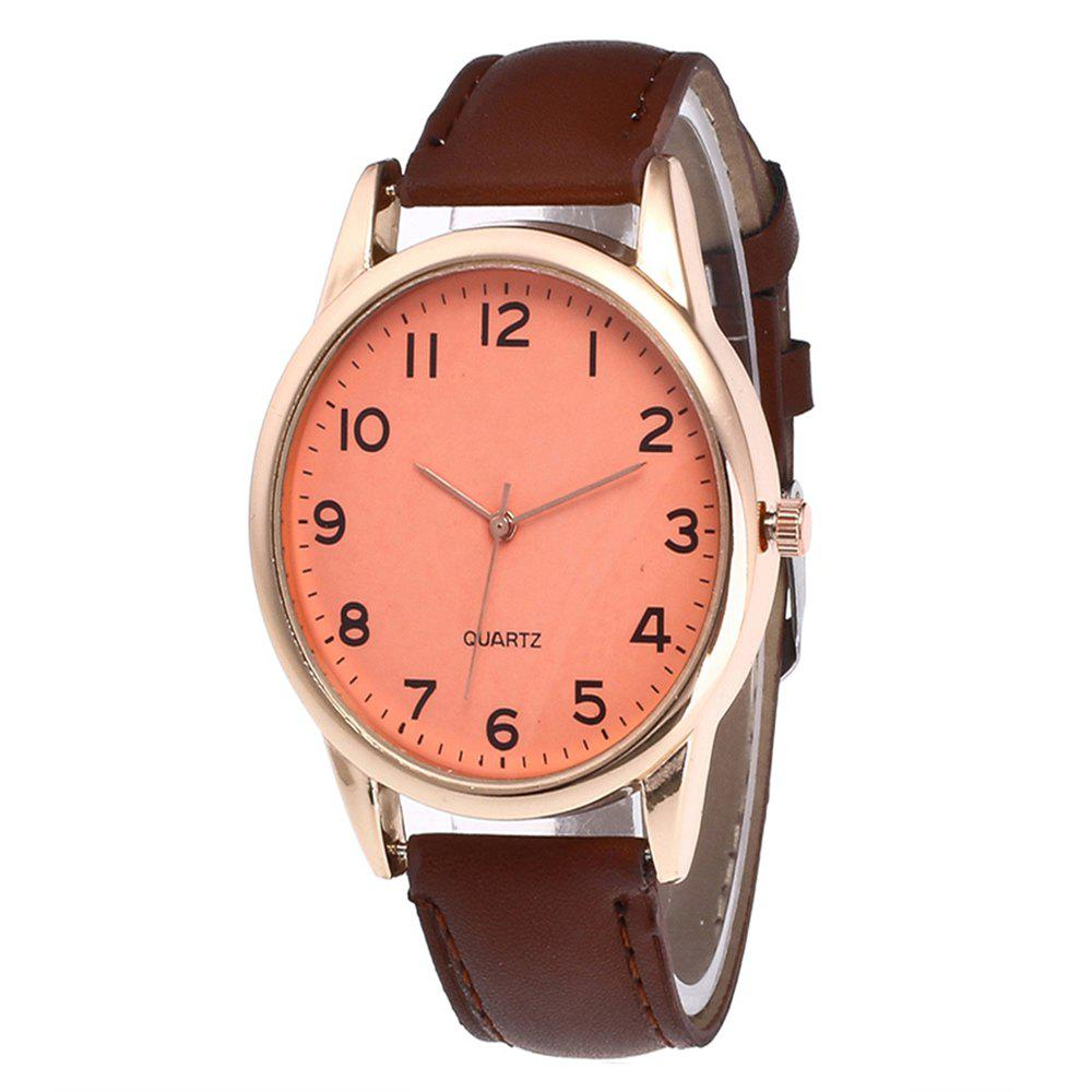 Cheap Fashionable Simple Man Leather Watch
