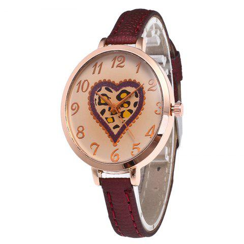 Hot Love Tea Color Dial Women Watch