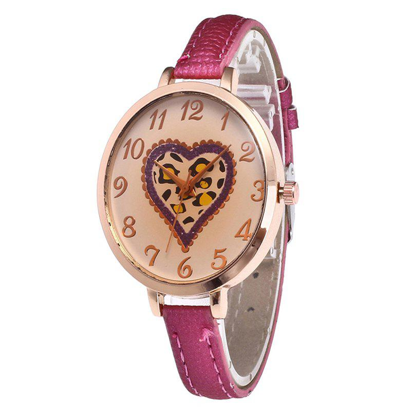 Fashion Love Tea Color Dial Women Watch