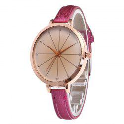 Tea Color Dial Women Quartz Watch -