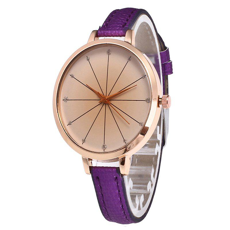 Fashion Tea Color Dial Women Quartz Watch