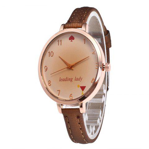 Sale Tawny Alphabet Leather Watch