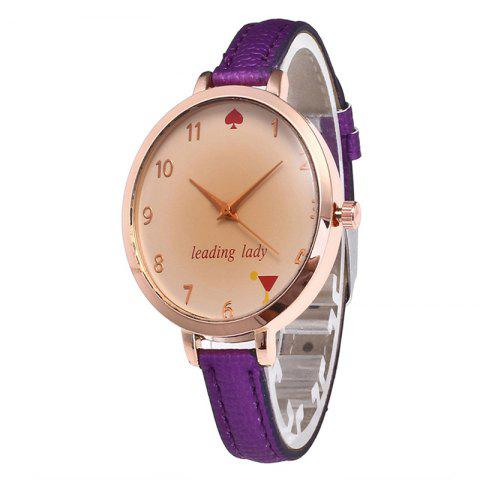 Shops Tawny Alphabet Leather Watch