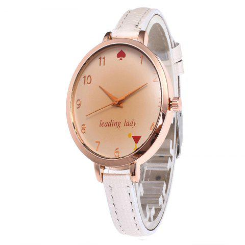 Best Tawny Alphabet Leather Watch