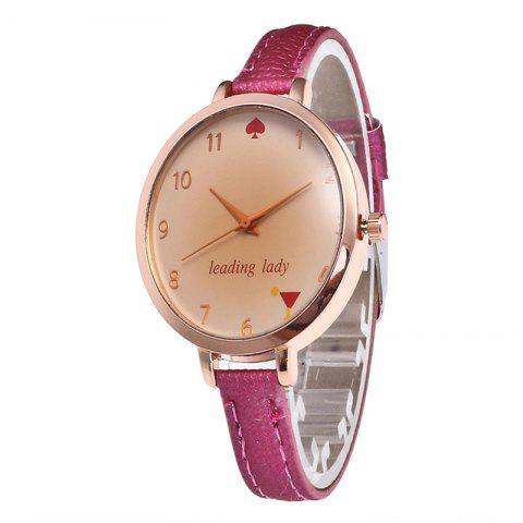 Chic Tawny Alphabet Leather Watch