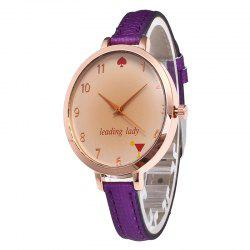 Tawny Alphabet Leather Watch -