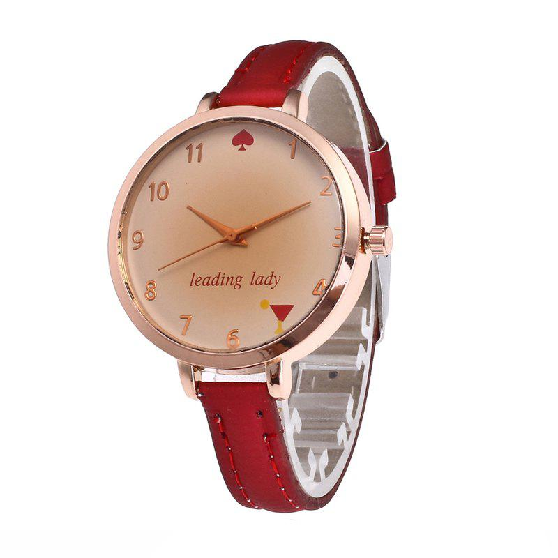 Hot Tawny Alphabet Leather Watch