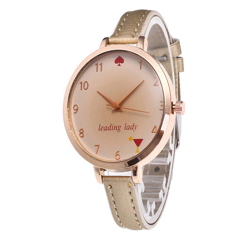 Buy Tawny Alphabet Leather Watch