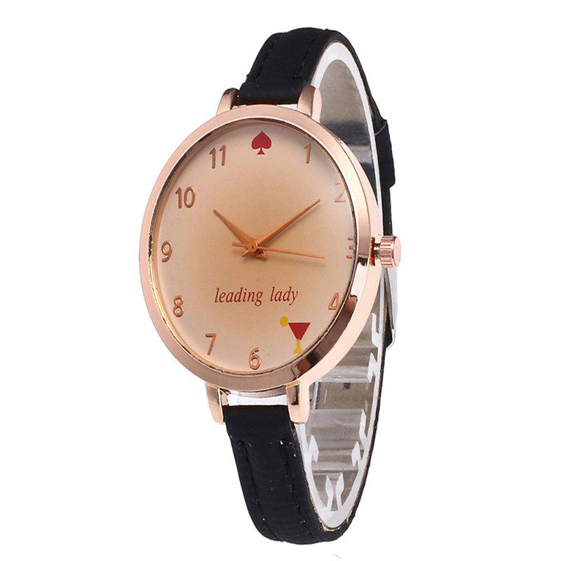 Outfits Tawny Alphabet Leather Watch