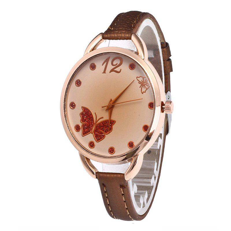 Butterfly Tea Femmes Quartz Montre