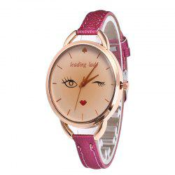 Big Eyes Red Lipstick Femmes Quartz Montre -
