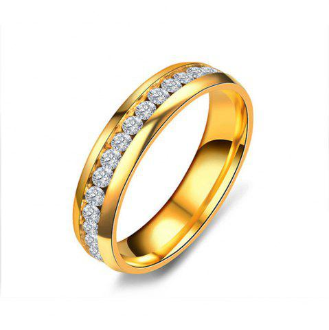 Fashion Women's Steel Couples Gold-Plated Rings 0116 Personalized Gifts Jewelry