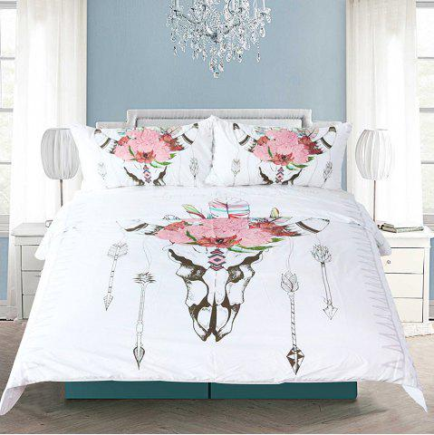 Bull Head Literie housse de couette Set Digital Print 3pcs