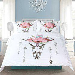 Bull Head Literie housse de couette Set Digital Print 3pcs -