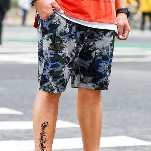 Summer Fashion Leisure Camouflage Large Size Men's Shorts -