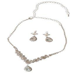 New Personal Luxury Water Dropping Rhinestone Necklace Set -