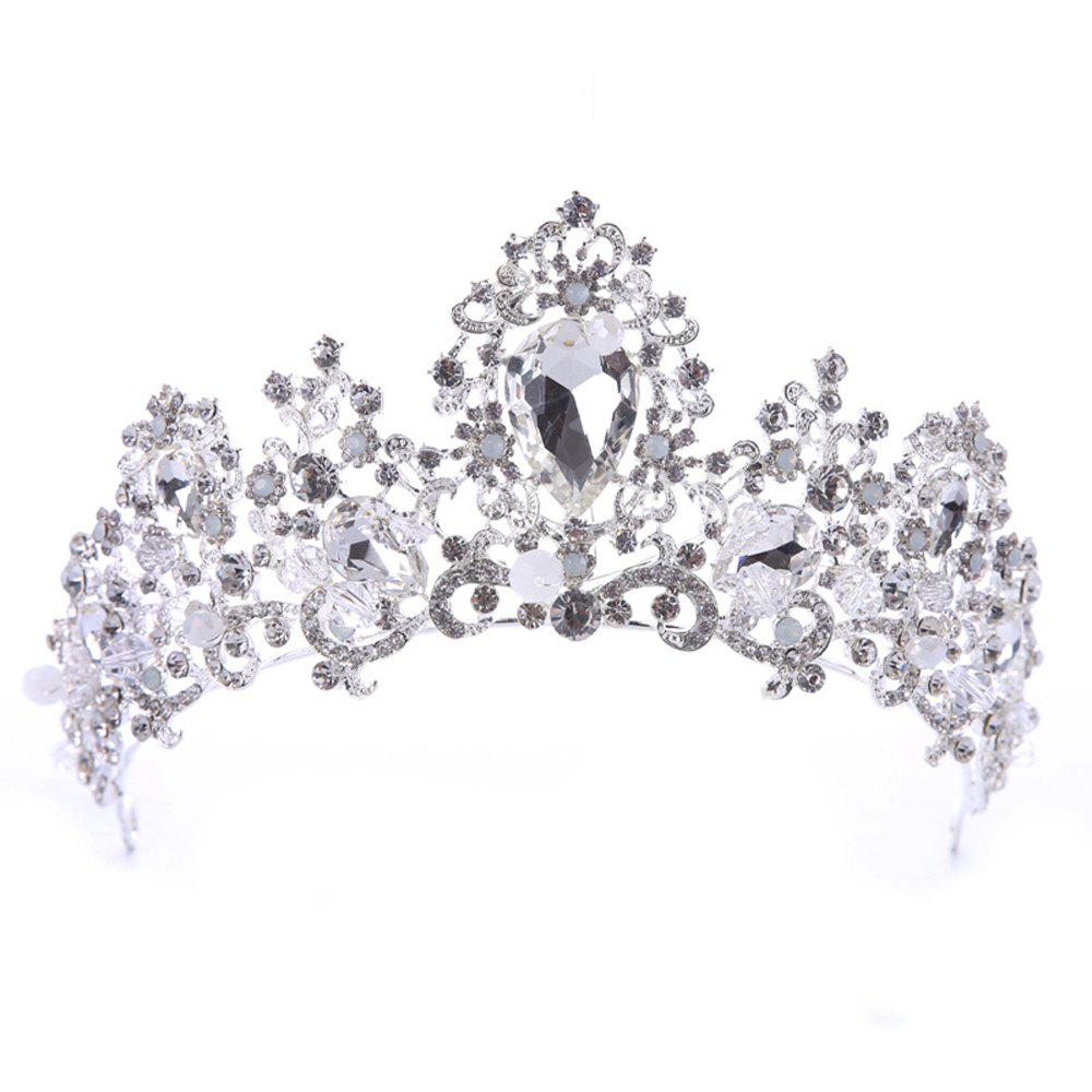 Chic New Heart Diamond Crown Bride Handband Decoration