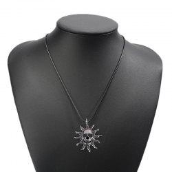 Fashion Personality Sun Devil Necklace Men Simple Titanium Steel Pendant -