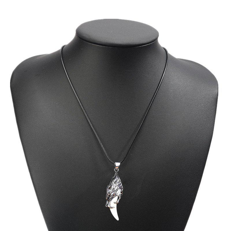 Shops Fashion Personality Artificial Spike Necklace Men Simple Steel Pendant
