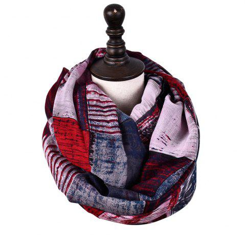 Online New Fashion Infinity Scarf Women Plaid Print Viscose Snood Circle Scarves