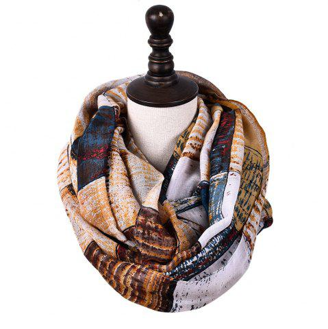 Store New Fashion Infinity Scarf Women Plaid Print Viscose Snood Circle Scarves