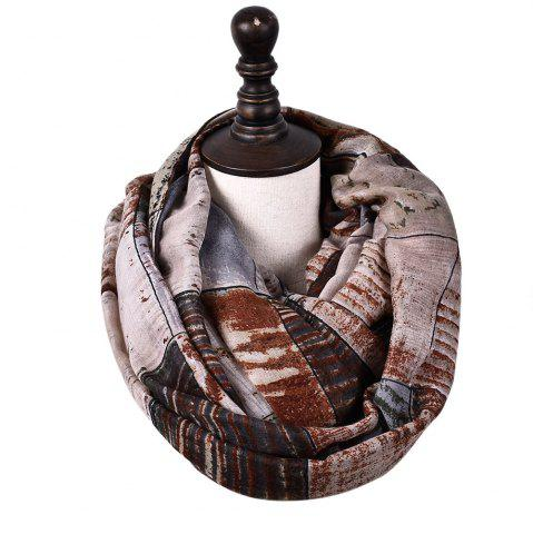 Shop New Fashion Infinity Scarf Women Plaid Print Viscose Snood Circle Scarves