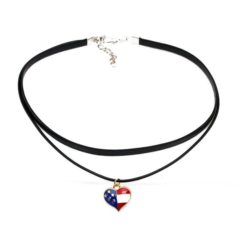 Online Multi-Layer Simple Accessories American Flag Choker Collar Chain