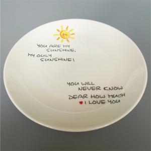 Скандинавский стиль Sun Pattern Ceramic Dinner Plate Round Dish -