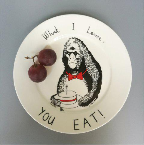 Affordable Creative Nordic Style Cartoon Animals Ceramic Dinner Plate Round Dish
