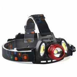 ZHISHUNJIA YH6783 1xXMLT6+2xCOB 900lm LED 4Mode White Zooming Focus Headlight -
